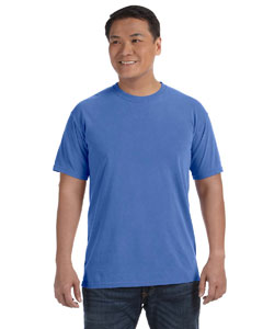 Neon Blue 6.1 oz. Ringspun Garment-Dyed T-Shirt