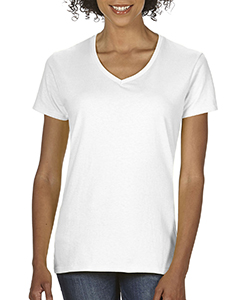 White Ladies Midweight RS V-Neck T-Shirt