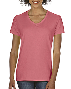 Watermelon Ladies Midweight RS V-Neck T-Shirt