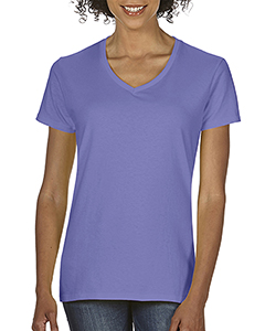 Violet Ladies Midweight RS V-Neck T-Shirt