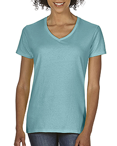 Chalky Mint Ladies Midweight RS V-Neck T-Shirt