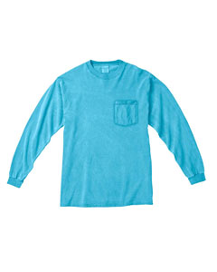 Lagoon Blue Long-Sleeve Pocket T-Shirt
