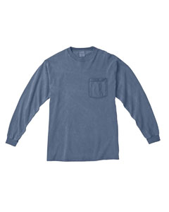Blue Jean Long-Sleeve Pocket T-Shirt