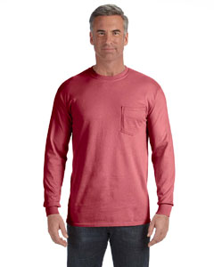 Crimson Long-Sleeve Pocket T-Shirt