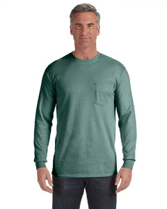 Light Green Long-Sleeve Pocket T-Shirt