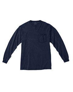 True Navy Long-Sleeve Pocket T-Shirt