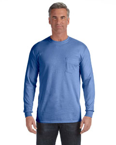 Flo Blue Long-Sleeve Pocket T-Shirt