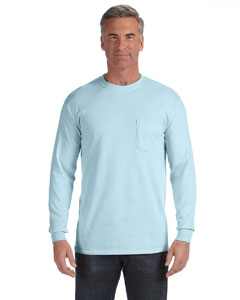 Chambray Long-Sleeve Pocket T-Shirt