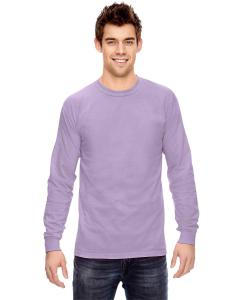 Orchid Ringspun Garment-Dyed Long-Sleeve T-Shirt