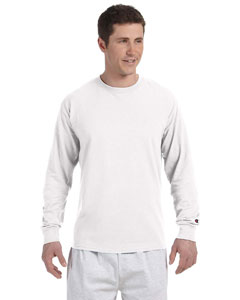 White 5.2 oz. Long-Sleeve Tagless T-Shirt