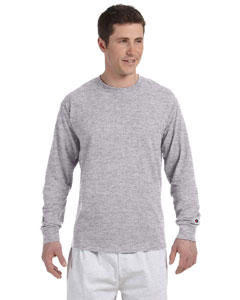 Light Steel 5.2 oz. Long-Sleeve Tagless T-Shirt