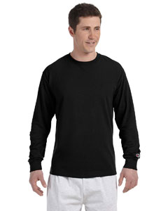Black 5.2 oz. Long-Sleeve Tagless T-Shirt