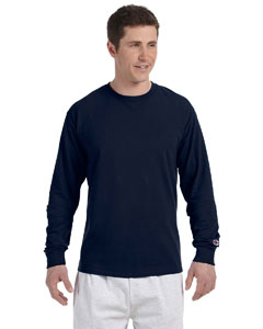 Navy 5.2 oz. Long-Sleeve Tagless T-Shirt
