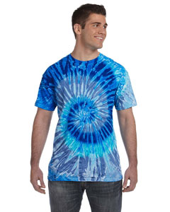 Blue Jerry 5.4 oz., 100% Cotton Tie-Dyed T-Shirt