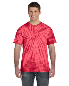 Spider Red 5.4 oz., 100% Cotton Tie-Dyed T-Shirt
