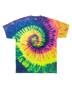Neon Rainbow 5.4 oz., 100% Cotton Tie-Dyed T-Shirt