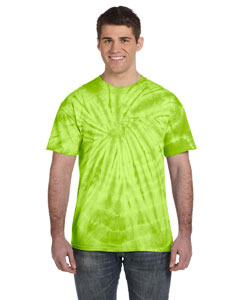 Spider Lime 5.4 oz., 100% Cotton Tie-Dyed T-Shirt
