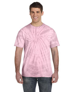 Spider Pink 5.4 oz., 100% Cotton Tie-Dyed T-Shirt