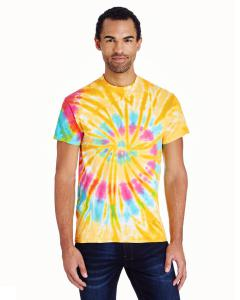 Aurora 5.4 oz., 100% Cotton Tie-Dyed T-Shirt