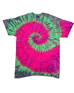 Watermelon 5.4 oz., 100% Cotton Tie-Dyed T-Shirt