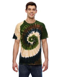 Camo Swirl 5.4 oz., 100% Cotton Tie-Dyed T-Shirt