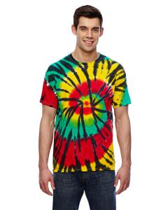 Rasta Web 5.4 oz., 100% Cotton Tie-Dyed T-Shirt