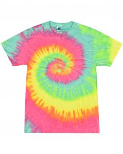 Minty Rainbow 5.4 oz., 100% Cotton Tie-Dyed T-Shirt