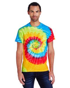 Pastel Neon 5.4 oz., 100% Cotton Tie-Dyed T-Shirt