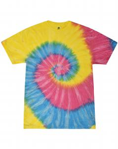 Sunshine 5.4 oz., 100% Cotton Tie-Dyed T-Shirt