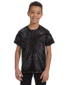 Spider Black Youth 5.4 oz., 100% Cotton Tie-Dyed T-Shirt