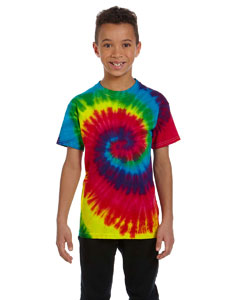 Reactive Rainbow Youth 5.4 oz., 100% Cotton Tie-Dyed T-Shirt