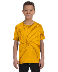 Spider Gold Youth 5.4 oz., 100% Cotton Tie-Dyed T-Shirt