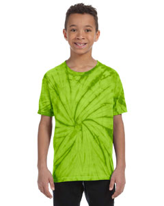 Spider Lime Youth 5.4 oz., 100% Cotton Tie-Dyed T-Shirt