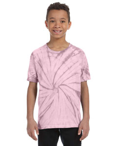 Spider Pink Youth 5.4 oz., 100% Cotton Tie-Dyed T-Shirt