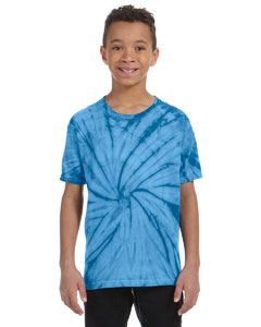 Spider Turquoise Youth 5.4 oz., 100% Cotton Tie-Dyed T-Shirt