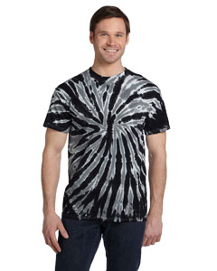 Twist Black 5.4 oz., 100% Cotton Twist Tie-Dyed T-Shirt