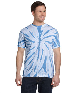 Twist Carolina Blue 5.4 oz., 100% Cotton Twist Tie-Dyed T-Shirt