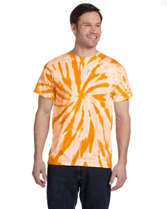 Twist Gold 5.4 oz., 100% Cotton Twist Tie-Dyed T-Shirt