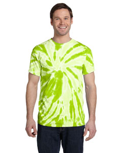 Twist Lime 5.4 oz., 100% Cotton Twist Tie-Dyed T-Shirt