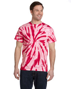 Twist Red 5.4 oz., 100% Cotton Twist Tie-Dyed T-Shirt