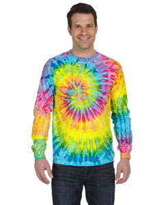 Saturn 5.4 oz., 100% Cotton Long-Sleeve Tie-Dyed T-Shirt
