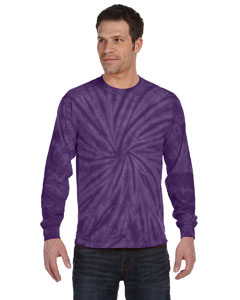 Spider Purple 5.4 oz., 100% Cotton Long-Sleeve Tie-Dyed T-Shirt