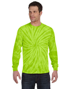 Spider Lime 5.4 oz., 100% Cotton Long-Sleeve Tie-Dyed T-Shirt