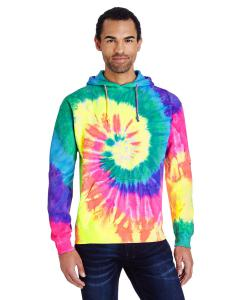 Neon Rainbow 8.5 oz. Tie-Dyed Pullover Hood