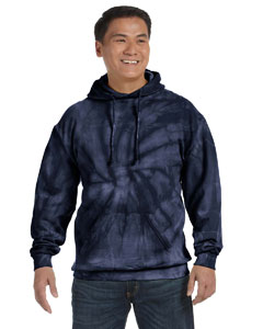 Spider Navy 8.5 oz. Tie-Dyed Pullover Hood