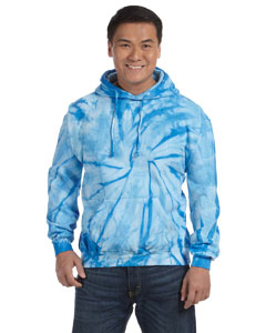 Spider Baby Blue 8.5 oz. Tie-Dyed Pullover Hood