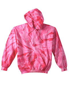 Spider Pink 8.5 oz. Tie-Dyed Pullover Hood