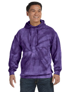 Spider Purple 8.5 oz. Tie-Dyed Pullover Hood