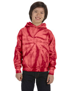 Spider Red Youth 8.5 oz. Tie-Dyed Pullover Hood