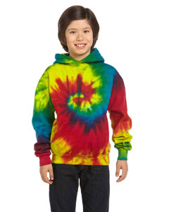 Reactive Rainbow Youth 8.5 oz. Tie-Dyed Pullover Hood